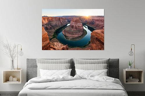Metal or Canvas Print: Horseshoe Bend Sunset