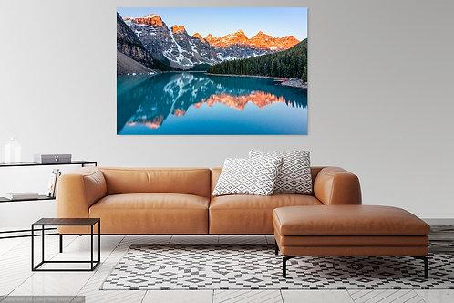 Metal or Canvas Print: Moraine Lake Sunrise