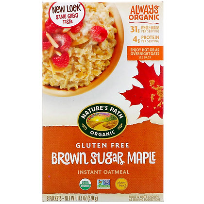 Nature's Path Organic Brown Sugar Maple Instant Oatmeal 320g
