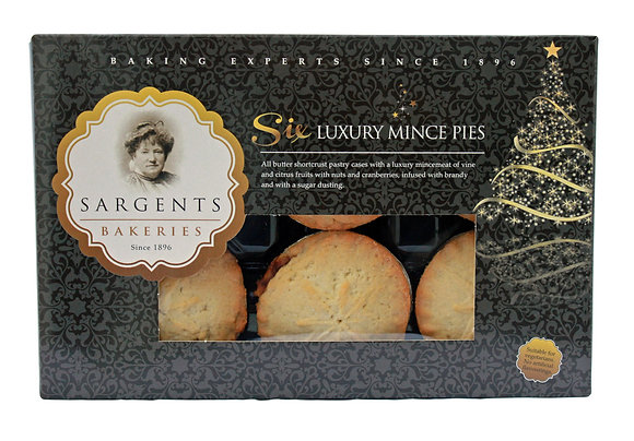 Luxury Mince Pies Sargents Bakeries 6 uds