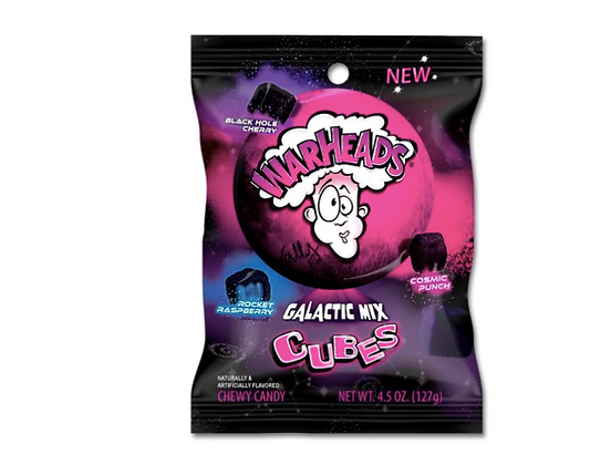 Warheads Galactic Mix Cubes 128g