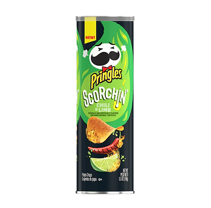 Pringles Scorchin Chili Lime 155g