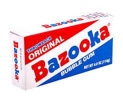Original Bazooka Bubble Gum 114g