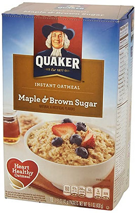 Quaker Instant Maple & Brown Sugar Oat 425gr