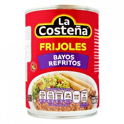 Frijoles Bayos Refritos La Costeña 580g