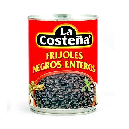Frijoles Negros Enteros La Costeña 560g