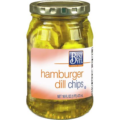 Best Yet Hamburger Dill Chips 473ml