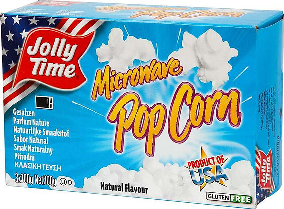 Jolly Time Popcorn Natural Microwave 300g