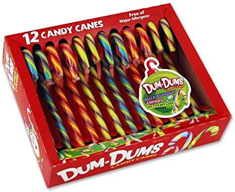 Candy Canes Dum Dums 150g