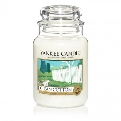 Clean Cotton Yankee Candle Vela