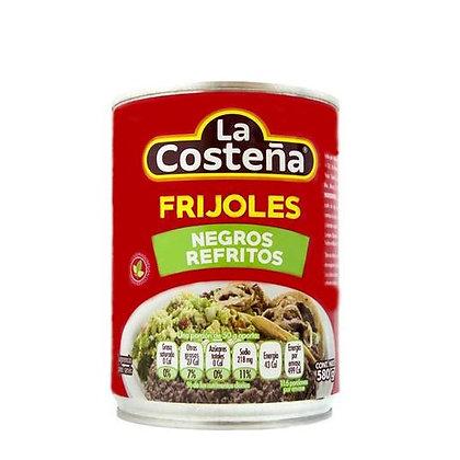 Frijoles Negros Refritos La Costeña 580g
