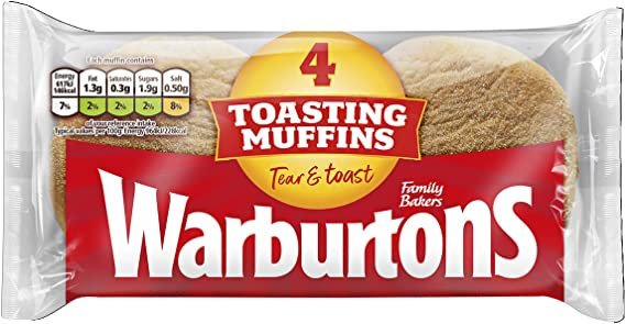 Warburton English Muffins x4 (leer descripción)