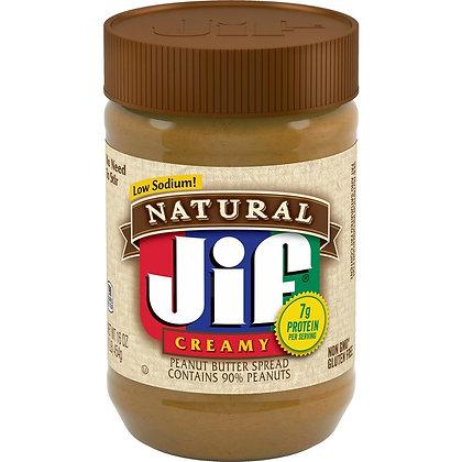 Jif Natural Creamy Peanut Butter 454g