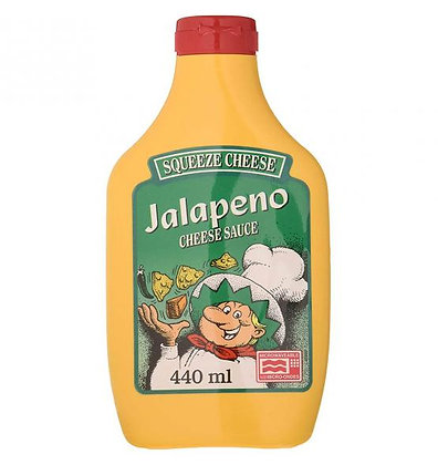 Squeeze Cheese Jalapeño Cheese Sauce 440ml