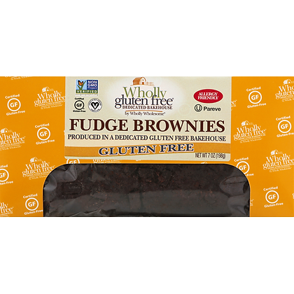 Fudge Brownies Gluten Free Wholly Wholesome 198g