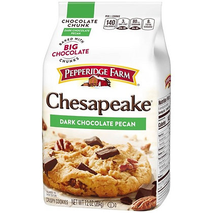 Pepperidge Farm Chesapeake Dark Chocolate Pecan Cookies 204g