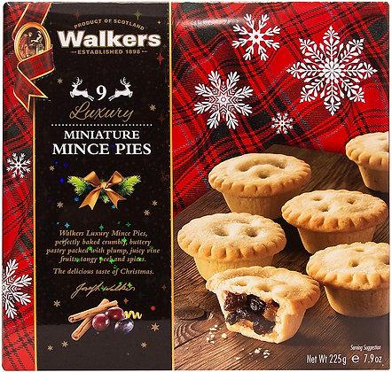Luxury Miniature Mince Pies Walkers 9 uds