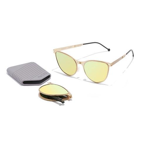 ROAV|全球最薄超輕量隨身折疊太陽眼鏡|Scarlett系列|金色鏡框|美國