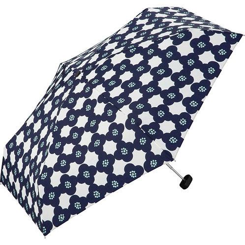 W.P.C|436 Camelliai 深藍花花|防UV伸縮雨傘|50cm|220g|日本