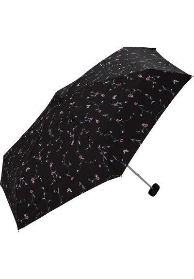 W.P.C|6076 黑色花花|防UV伸縮雨傘|50cm|220g|日本