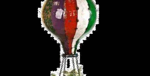 Hot Air Balloon Planter / Birdfeeder / Candle Holder - Regular/Large Size