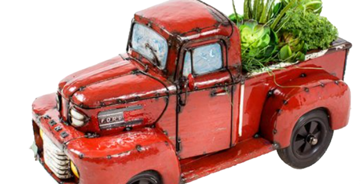 Small Ford Pick Up Truck | Planter & Beverage Cooler – Red or Blue