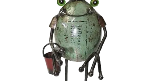 Frog King with Bucket