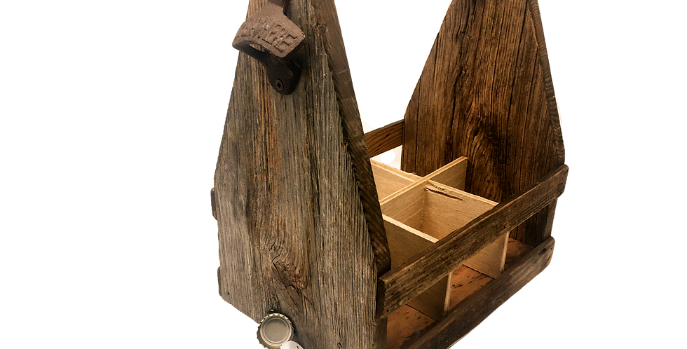 Classic Barn Wood Beer Tote