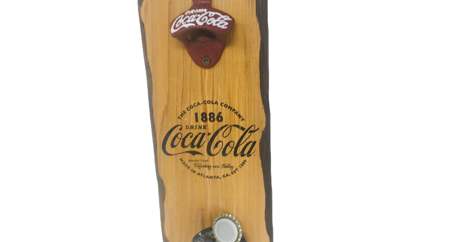 Classic Coca-Cola Wall Mounted Bottle Opener with Magnet