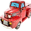 Thumbnail: Large  Pick Up Truck Cooler Red or Blue