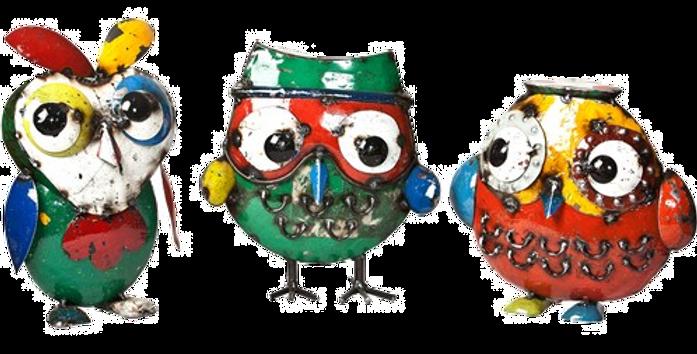 Owl Trio Set - Sculpture