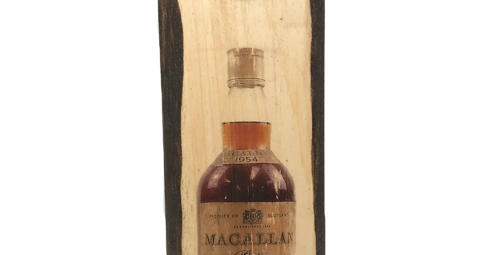 Rear Macallan 1954 Wall Mounted Plaque with Opener and Magnet