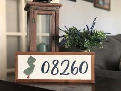08260 Zip Code Wood Sign