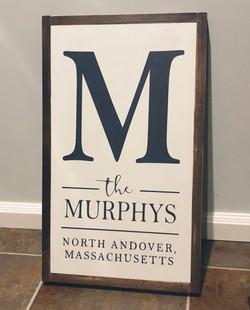 The Murphys Wood Sign
