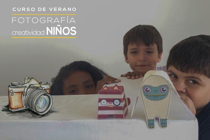 CURSO DE VERANO: CREATIVIDAD DE NIÑOS - LENS KIDS
