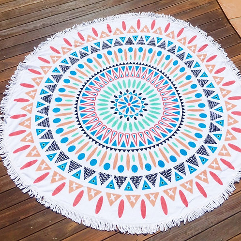 Round Beach Towel Throw - Double Island