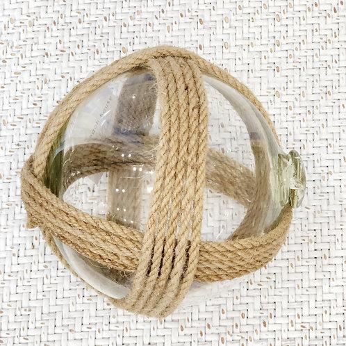 Nautical Glass Jute Rope Ball