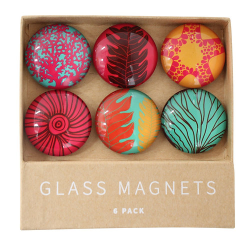 Reef Glass Magnets - set of 6
