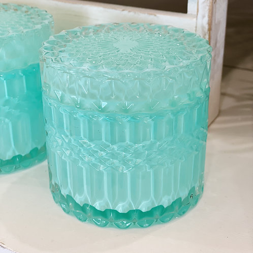 Coloured Glass Canister