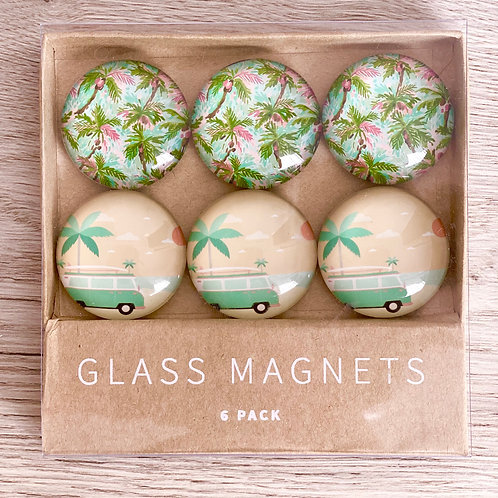 California Days Glass Magnet Set
