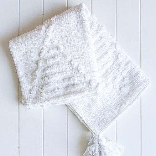 Robshaw Throw Blanket - White