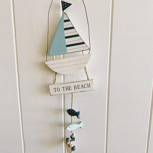 Hanging Stripe Boat Sign