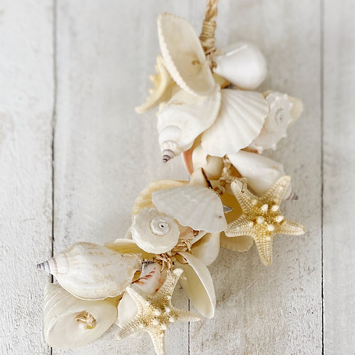Mini Pearl White Shell Cluster 35cm