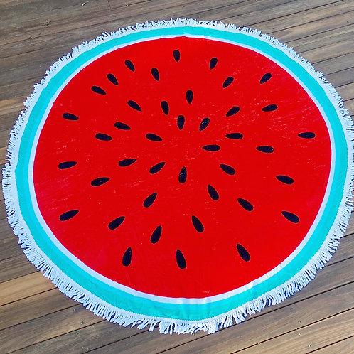 Round Beach Towel Throw - Watermelon