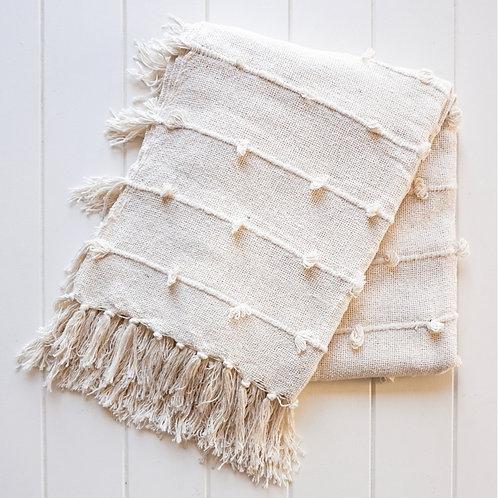 Windsor Throw Blanket - Natural