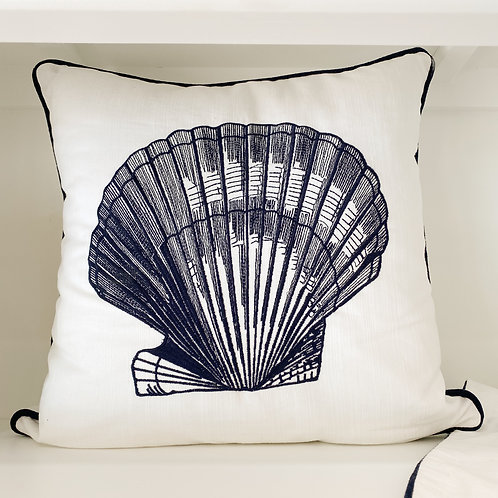 Embroidered Shell Cushion