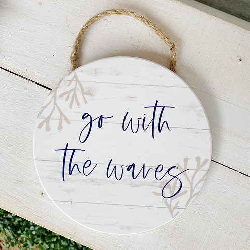 Go With The Waves - Hanging Wall Decor