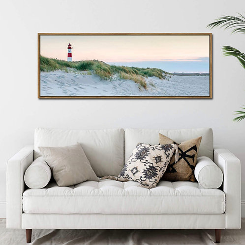 Lighthouse Canvas in Floating Frame