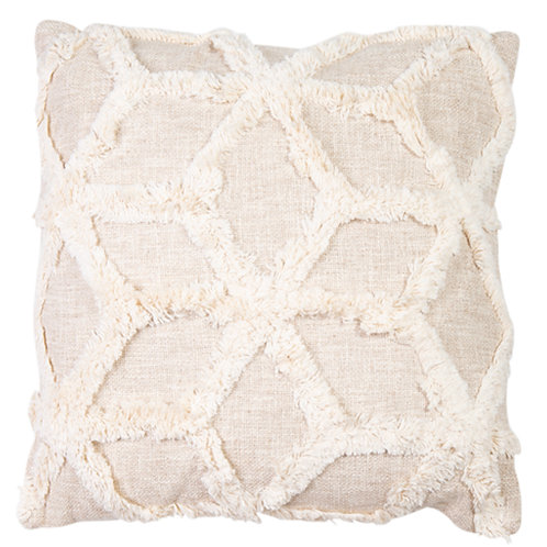 Hand Woven Embellished Cotton Cushion