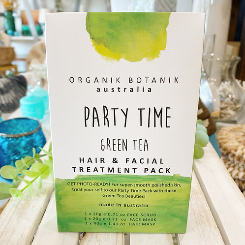 Party Time - Green Tea Hair and Facial Treatment Pack